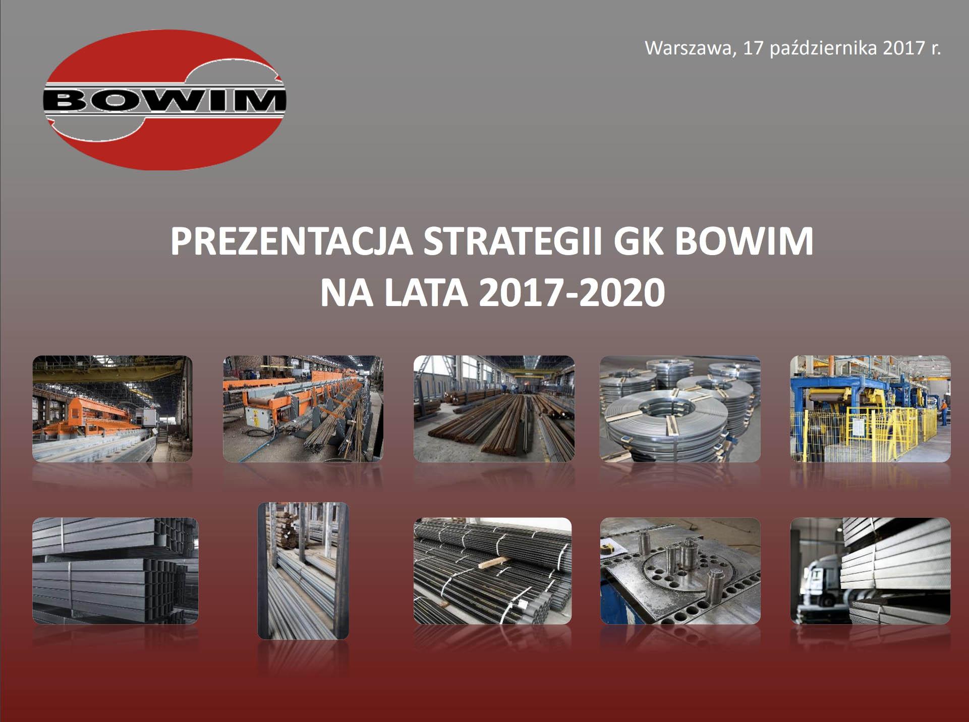 prezentacja strategii gk bowim na lata 2017-2020