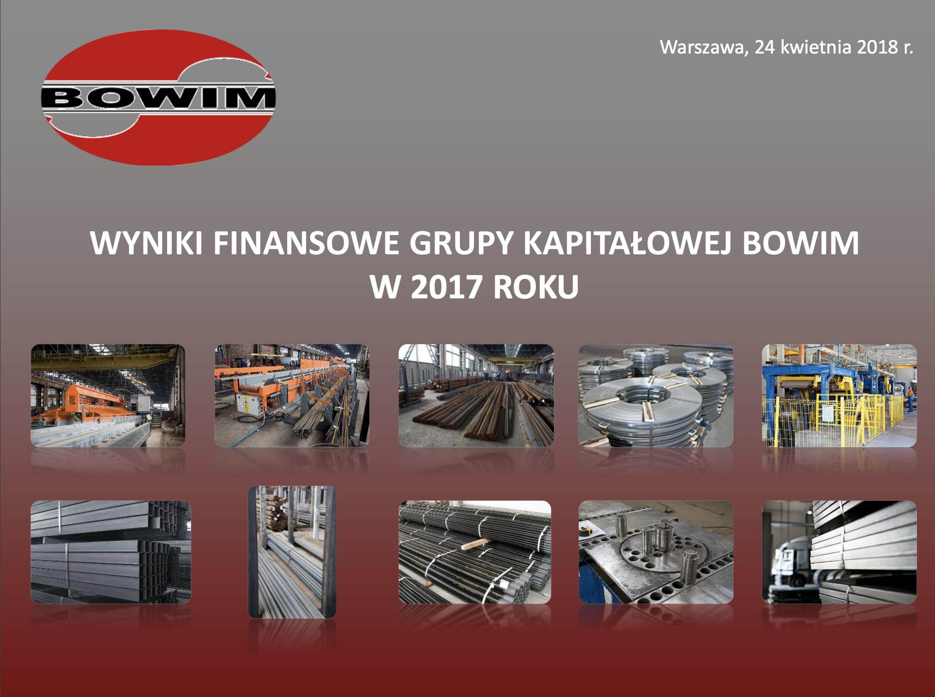 wyniki finansowe grupy kapitalowej Bowim w 2017 roku